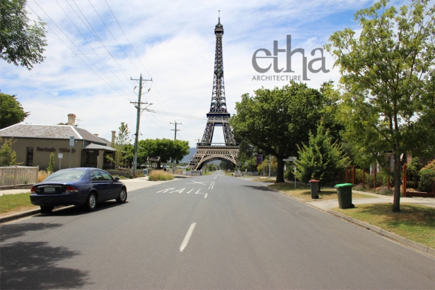 Eiffel Tower Relocated to New Gisborne Australia