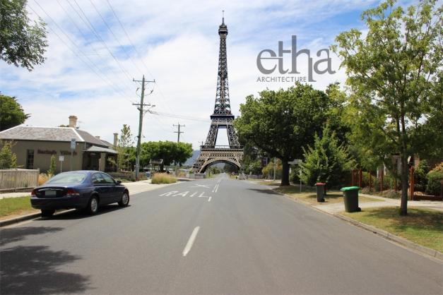 Eiffel Tower Relocated to New Gisborne Australia