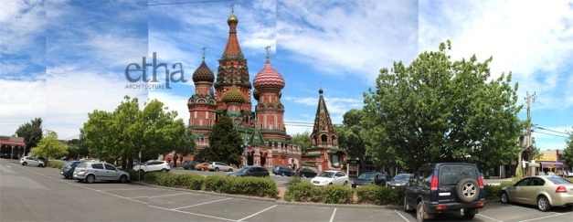 St Basil's Cathedral- Relocated to Gisborne Australia