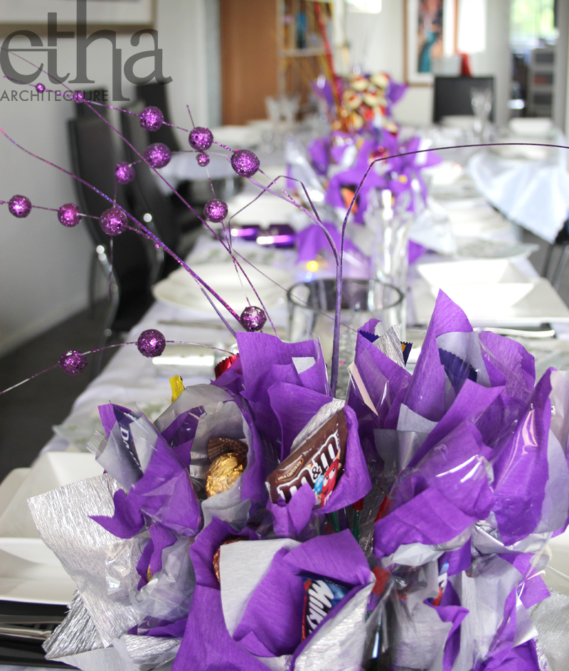 Christmas Decorations In Purple: Purple Christmas Table Decorations