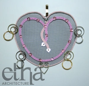 Pink Hart Jewellery Display