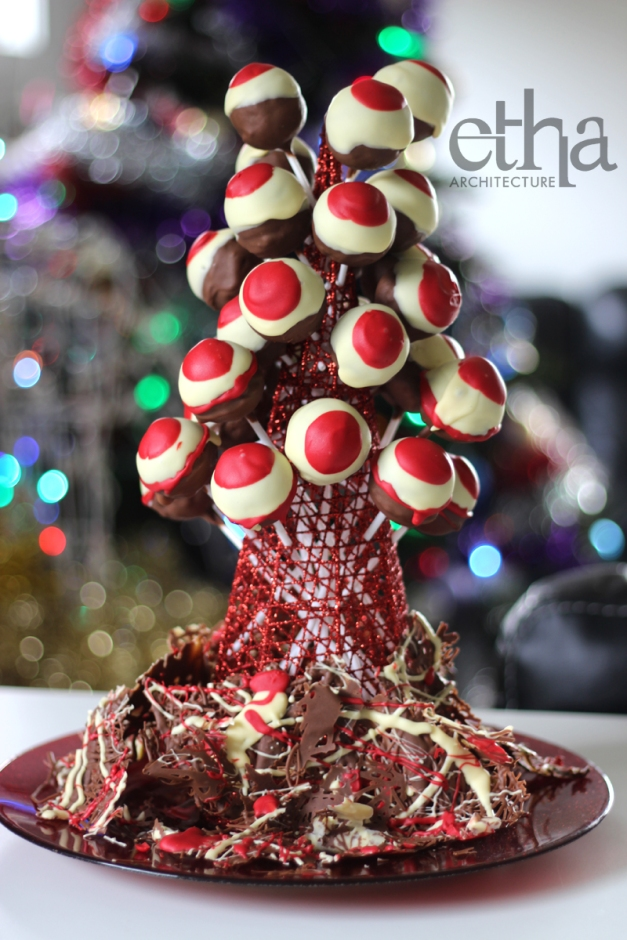 Xmas Cake Pop Tower