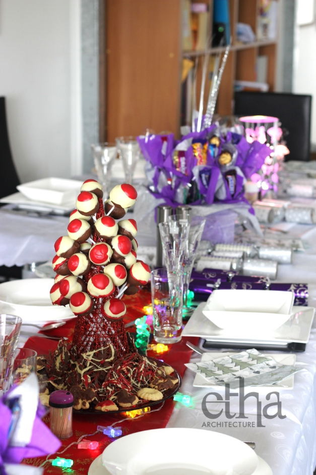 Xmas Cake Pop Tower on our Christmas Table