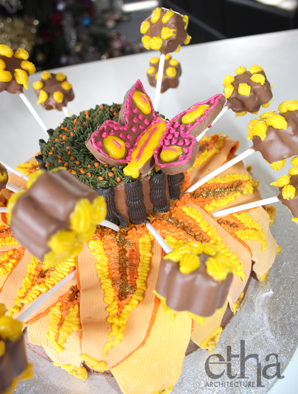 Sunflower Cake With Butterfly