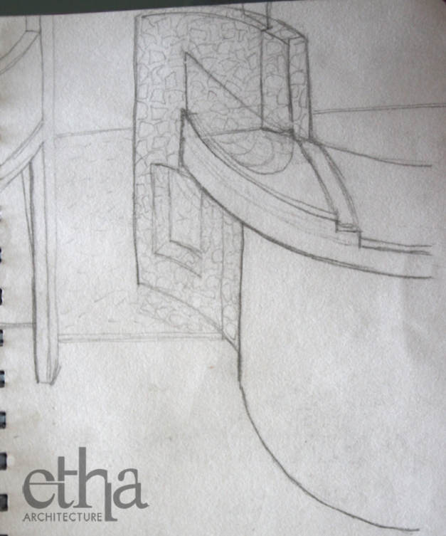 Curved Wall Opening Sketch