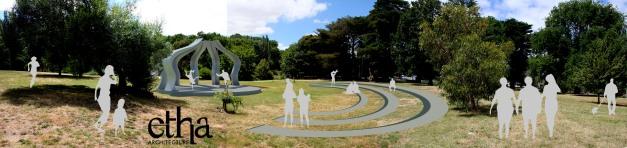 Gisborne Amphitheatre in parkland