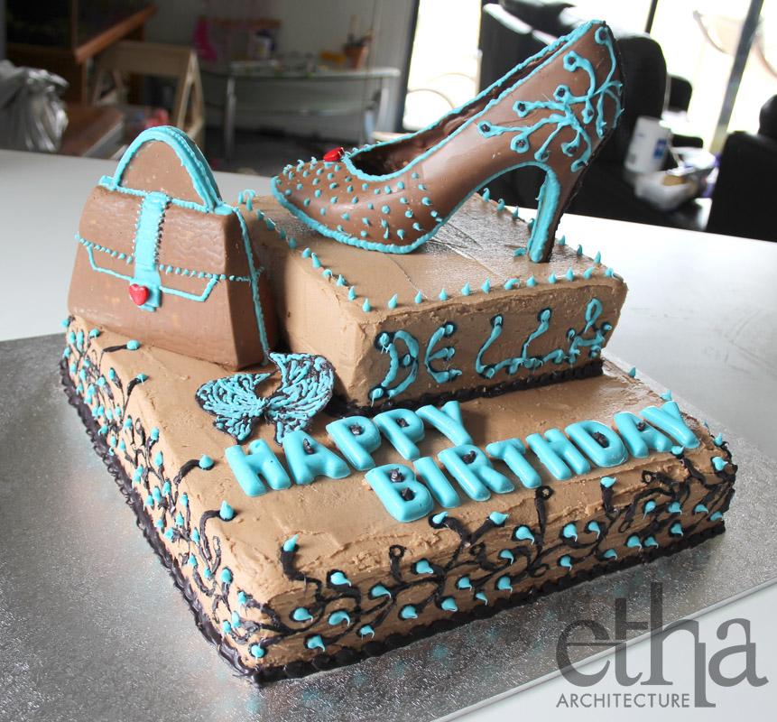 Chocolate Shoe Birthday Cake Delicious Architecture