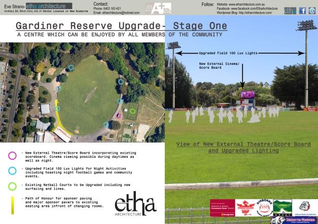 Stage One Gardiner Reserve Upgrade Works